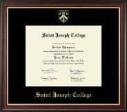 Saint Joseph College in Connecticut Diploma Frame - Gold Embossed Diploma Frame in Studio Gold