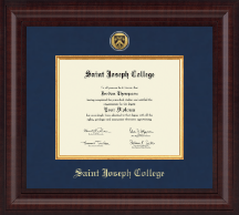 Saint Joseph College in Connecticut Diploma Frame - Presidential Gold Engraved Diploma Frame in Premier