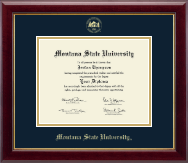 Montana State University Bozeman Diploma Frame - Gold Embossed Diploma Frame in Gallery