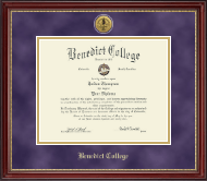 Benedict College Diploma Frame - Gold Engraved Medallion Diploma Frame in Kensington Gold