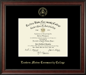 Eastern Maine Community College Diploma Frame - Gold Embossed Diploma Frame in Studio