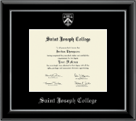 Saint Joseph College in Connecticut Diploma Frame - Silver Embossed Diploma Frame in Onyx Silver
