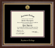 Aquinas College in Michigan Diploma Frame - Gold Engraved Medallion Diploma Frame in Hampshire