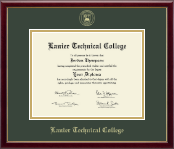 Lanier Technical College Diploma Frame - Gold Embossed Diploma Frame in Galleria