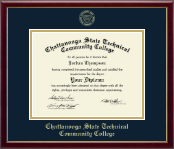 Chattanooga State Technical Community College Diploma Frame - Gold Embossed Diploma Frame in Galleria