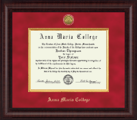 Anna Maria College Diploma Frame - Presidential Gold Engraved Diploma Frame in Premier