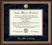 Anna Maria College Diploma Frame - 23K Medallion Diploma Frame in Hampshire
