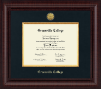 Greenville College Diploma Frame - Presidential Gold Engraved Diploma Frame in Premier
