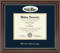 Millikin University Diploma Frame - Campus Cameo Diploma Frame in Chateau