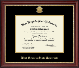 West Virginia State University Diploma Frame - Gold Engraved Medallion Diploma Frame in Kensington Gold