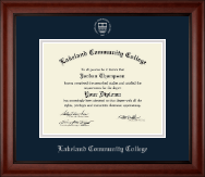 Lakeland Community College Diploma Frame - Silver Embossed Diploma Frame in Cambridge