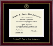 Stephen F. Austin State University Diploma Frame - Gold Embossed Diploma Frame in Gallery