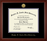 Stephen F. Austin State University Diploma Frame - Gold Engraved Medallion Diploma Frame in Cambridge
