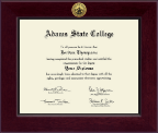Adams State College Diploma Frame - Century Gold Engraved Diploma Frame in Cordova