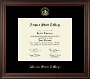 Adams State College Diploma Frame - Gold Embossed Diploma Frame in Studio