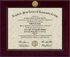 Nashville State Community College Diploma Frame - Century Gold Engraved Diploma Frame in Cordova