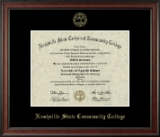 Nashville State Community College Diploma Frame - Gold Embossed Diploma Frame in Studio