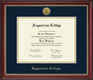 Gold Engraved Diploma Frame in Kensington Gold