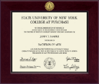 Purchase College Diploma Frame - Century Gold Engraved Diploma Frame in Cordova