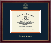Norfolk Academy Diploma Frame - Gold Embossed Diploma Frame in Galleria