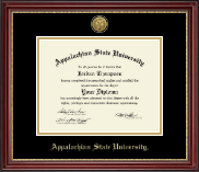 Appalachian State University Diploma Frame - Gold Engraved Diploma Frame in Kensington Gold