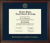 United States Coast Guard Academy Diploma Frame - Gold Embossed Diploma Frame in Studio