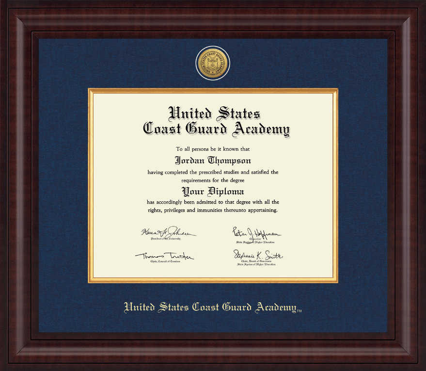 united states coast guard academy presidential gold engraved  united states coast guard academy presidential gold engraved diploma frame in premier item 208503