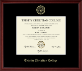Trinity Christian College Diploma Frame - Gold Embossed Diploma Frame in Camby
