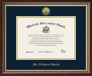 Gold Engraved Air National Guard Certificate Frame - 10 x 14