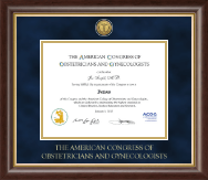 American Congress of Obstetricians & Gynecologists Certificate Frame - Gold Engraved Certificate Frame in Hampshire