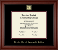 Bossier Parish Community College Diploma Frame - Gold Embossed Diploma Frame in Cambridge