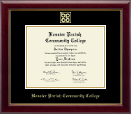 Bossier Parish Community College Diploma Frame - Gold Embossed Diploma Frame in Gallery