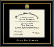 Murray State University Diploma Frame - Gold Engraved Medallion Diploma Frame in Onyx Gold