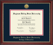 Saginaw Valley State University Diploma Frame - Gold Engraved Medallion Diploma Frame in Kensington Gold