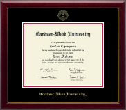 Gardner-Webb University Diploma Frame - Gold Embossed Diploma Frame in Gallery