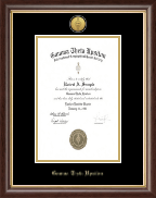 Gamma Theta Upsilon Certificate Frame - Gold Engraved Medallion Charter Certificate Frame in Hampshire
