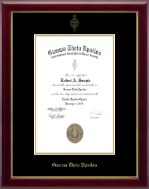Gamma Theta Upsilon Certificate Frame - Gold Embossed Charter Certificate Frame in Gallery