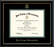York College of Pennsylvania Diploma Frame - Gold Embossed Diploma Frame in Onyx Gold