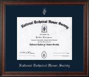 National Technical Honor Society Certificate Frame - Silver Embossed Certificate Frame in Studio