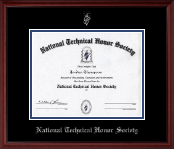 National Technical Honor Society Certificate Frame - Silver Embossed Certificate Frame in Camby