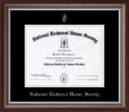National Technical Honor Society Certificate Frame - Silver Embossed Certificate Frame in Devonshire