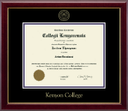Kenyon College Diploma Frame - Gold Embossed Diploma Frame in Gallery