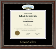 Kenyon College Diploma Frame - Campus Cameo Diploma Frame in Chateau