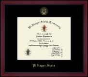 Gold Embossed Academy Edition Certificate Frame