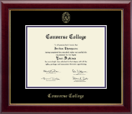Converse College Diploma Frame - Gold Embossed Diploma Frame in Gallery