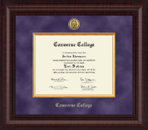 Converse College Diploma Frame - Presidential Gold Engraved Diploma Frame in Premier