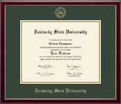 Kentucky State University Diploma Frame - Gold Embossed Diploma Frame in Galleria