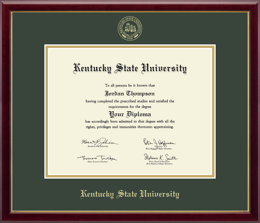Kentucky State University Gold Embossed Diploma Frame In