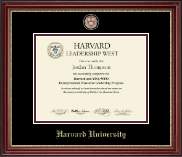 Harvard University Certificate Frame - Masterpiece Medallion Certificate Frame in Kensington Gold