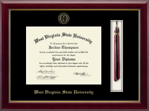 West Virginia State University Diploma Frame - Tassel Diploma Frame in Gallery